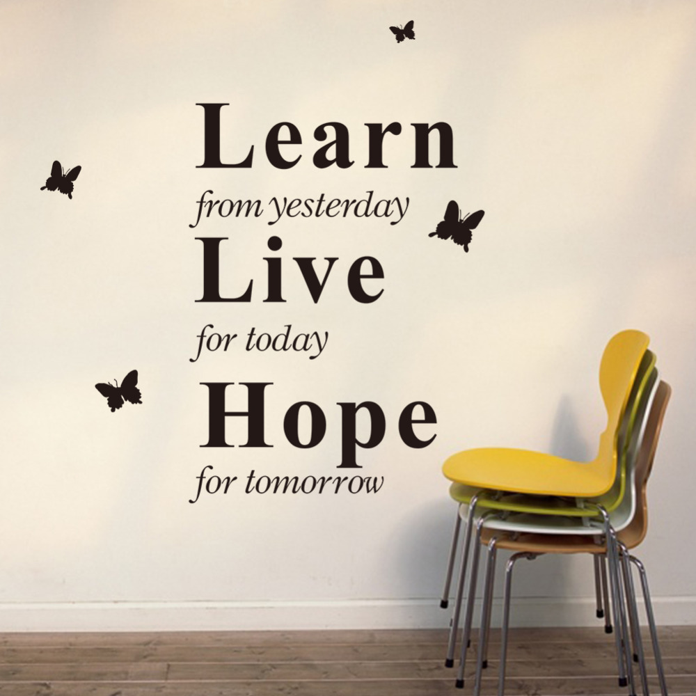 Export Portal Word Art For Walls Decor: Learn From Yesterday, Live For Today, Hope For Tomorrow