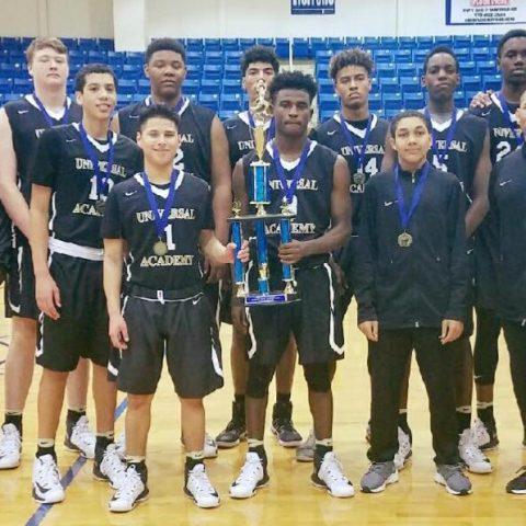 Universal Academy Boys Basketball Tournament Champions